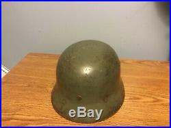 WW2 Original German helmet M35 liner +chinstrap SE66