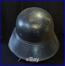 WW2 WWII German Helmet Luftschutz Gladiator Original W Liner Named