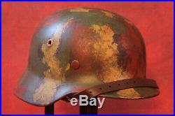 WW2 WWII German Helmet M40 Camo QUIST Q64 Batch # 337 Solid