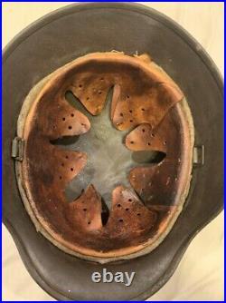 WW2 WWII German Helmet M-35 Apple Green SE62 Batch #4746
