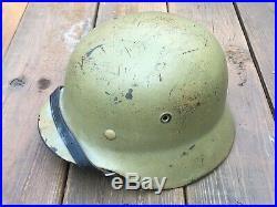 WW2 WWII German M40 Helmet Restored Repainted Desert Yellow New Liner/Chinstrap