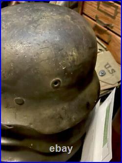 WW2 WWII ORIGINAL German Normandy camo M40 Helmet