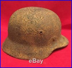 WW2 WWII Original German Helmet M40/62 Signature Name