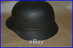 WW2 german LUFTSCHUTZ BEADED M40 HELMET. (Stahlhelm M40)