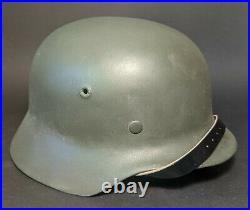WW2 original German Wehrmacht helmet Stahlhelm M40 62 small size with liner