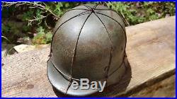WW2 original german helmet M40 grilling (ELSTER column)