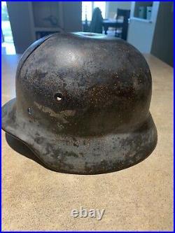 WWII GERMAN M35 Helmet Original Vintage German WW2, Antique