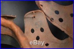 WWII German Original M40 Beaded Volkssturm Helmet 1945 WW2 Equipment Liner Strap