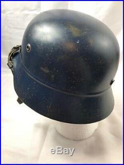 WWII WW2 German M35 Beaded Civil Helmet, Civil, Original, Steel, Liner, Stahlhelm, War