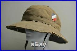 WWII WW2 Original German Luftwaffe Dak Afrika Korps Tropical Helmet Air Force