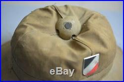 WWII WW2 Original Tropical Helmet Luftwaffe German Air Force Afrika Korps Rommel