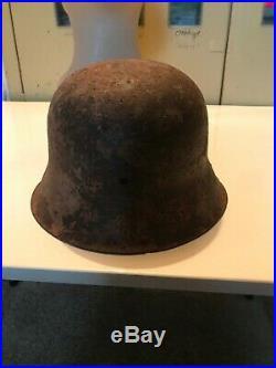 WW 2 original German Helmet M42 Battlefield Relic