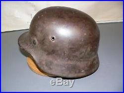 W. W. 2 German Helmet M 35 Maker Marked Et66 Slate Green / Gray Liner & Band