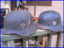 W. W. 2 German Navy Helmet Maker Marked Liner Band And Felt Intact No Leather Lin