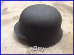 World War 2 WWII German Army M35 M42 Helmet Attic Kept Original Paint WW2