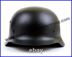 World War Replicas Supply German Black SS M40 Steel Helmet WW2 Reenactment