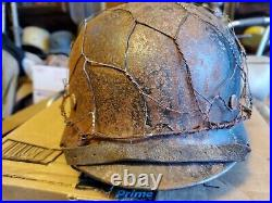 Ww2 100% ORIGINAL German helmet with liner and chinstrap. + chickens wire, NS62