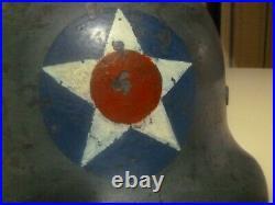 Ww2 German Helmet M40 Quist Dn 501 Vet Bring Back Named Usaaf