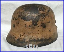Ww2 German M35 Afrika Korps Pink Helmet Size 66