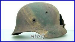 Ww2 German M-40 Helmet Normandy Camo Pattern