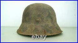 Ww2 German M-42 Helmet Elit Camo Pattern