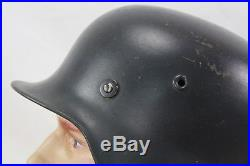 Ww2 German Model 40 Helmet Shell With Post War Liner