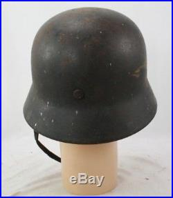 Ww2 German Model 40 No Decal Army Helmet, Maker Marked Q62