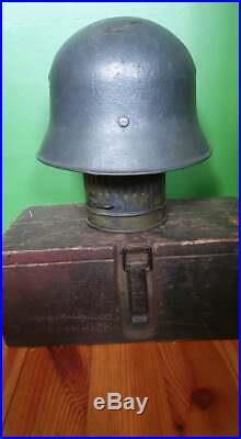 Ww2 German Original M34 Sharp Edge Helmet (rare) Salt-pepper Ventilation Holes