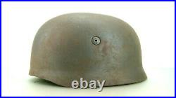Ww2 German Paratrooper Helmet, Rare One Complete With Bolts/nuts