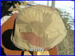 Ww2 German Reversible Camouflage Helmet Cover For Army & Elite Wwii Units Orig