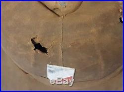 Ww2 German Third Reich Afrika Korps Tropical Helmet Worn Combat Both Shields Ss