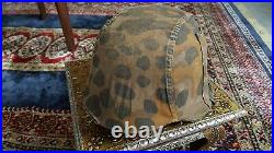 Ww2 German camouflaged helmet cover well worn condition