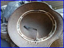 Ww2 German dd Relic Helmet with liner band part chinstrap From A Batch In Jersey