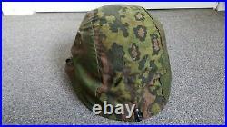Ww2 German original early patern camouflaged helmet cover