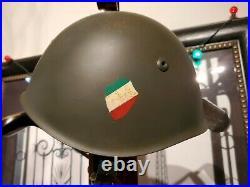 Ww2 M33 Italian German Axis Helmet Musolini Italy Factory Stamped