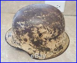 Ww2 M42 German Helmet, Camoflauge / Named