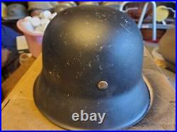 Ww2 M 42 German helmet with liner No chinstrap makers mark Hkp 64