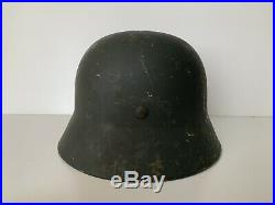 Ww2 WH original german decal camo M35 steel helmet Stahlhelm casco aleman