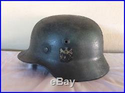 Ww2 WH original german helmet decal M40 Stahlhelm casco alemán