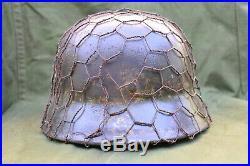 Ww2 german m40 camo helmet ET 64