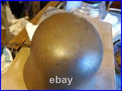 Ww2 german m40 helmet with liner and chinstrap makers mark EF62