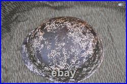 Ww2 m42 german helmet, winter snow camo, ss id tag and relics lot