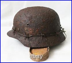 Ww2 orig. German lot of bunker findings (soldier`s bunker Stalingrad) helmet