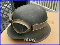 Ww2 wwii Original German M42 Helmet with Goggles