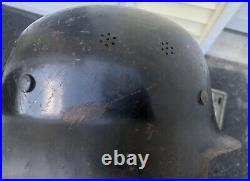 Ww2 wwii original german helmet Messerschmitt Factory Police Helmet Rare