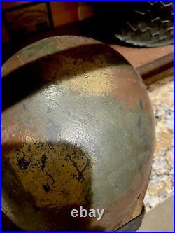 Ww2 wwii original german helmet Normandy Camo, Real Deal