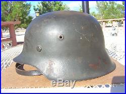 Ww 2 German Helmet Original M42 Ckl66 5065 No Decal Full Visor Anomaly
